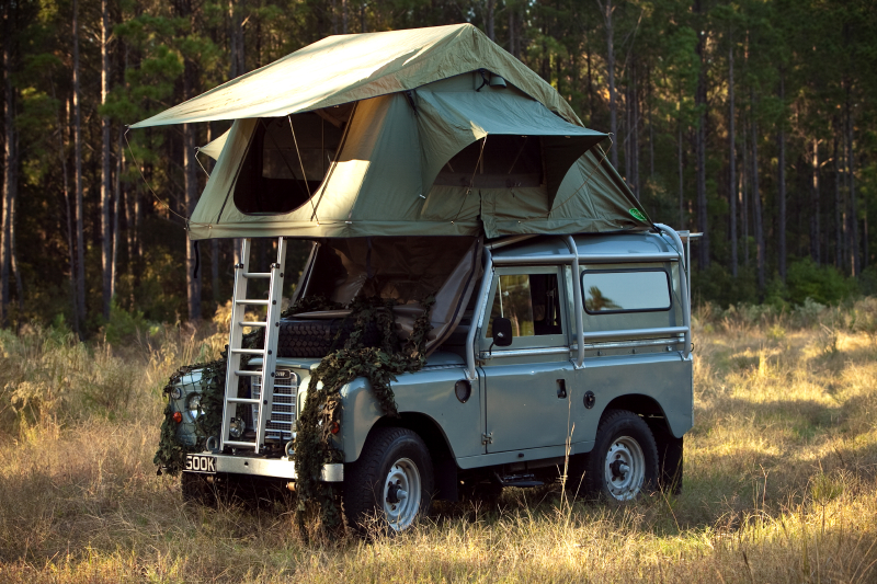 Land Rover Discovery Camper >> Roof tent car and van camping