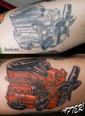 car logo tattoo's
